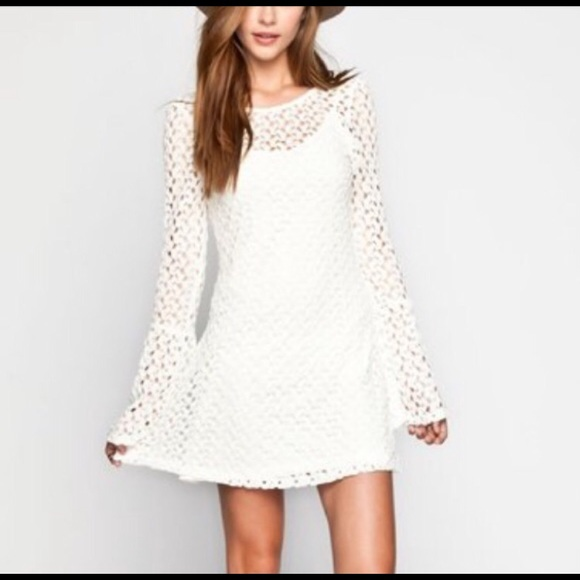a759f2fa232 Dresses   Skirts - Lace Bell Sleeve Skater Dress